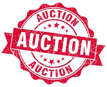 Red Letter Auction Sign